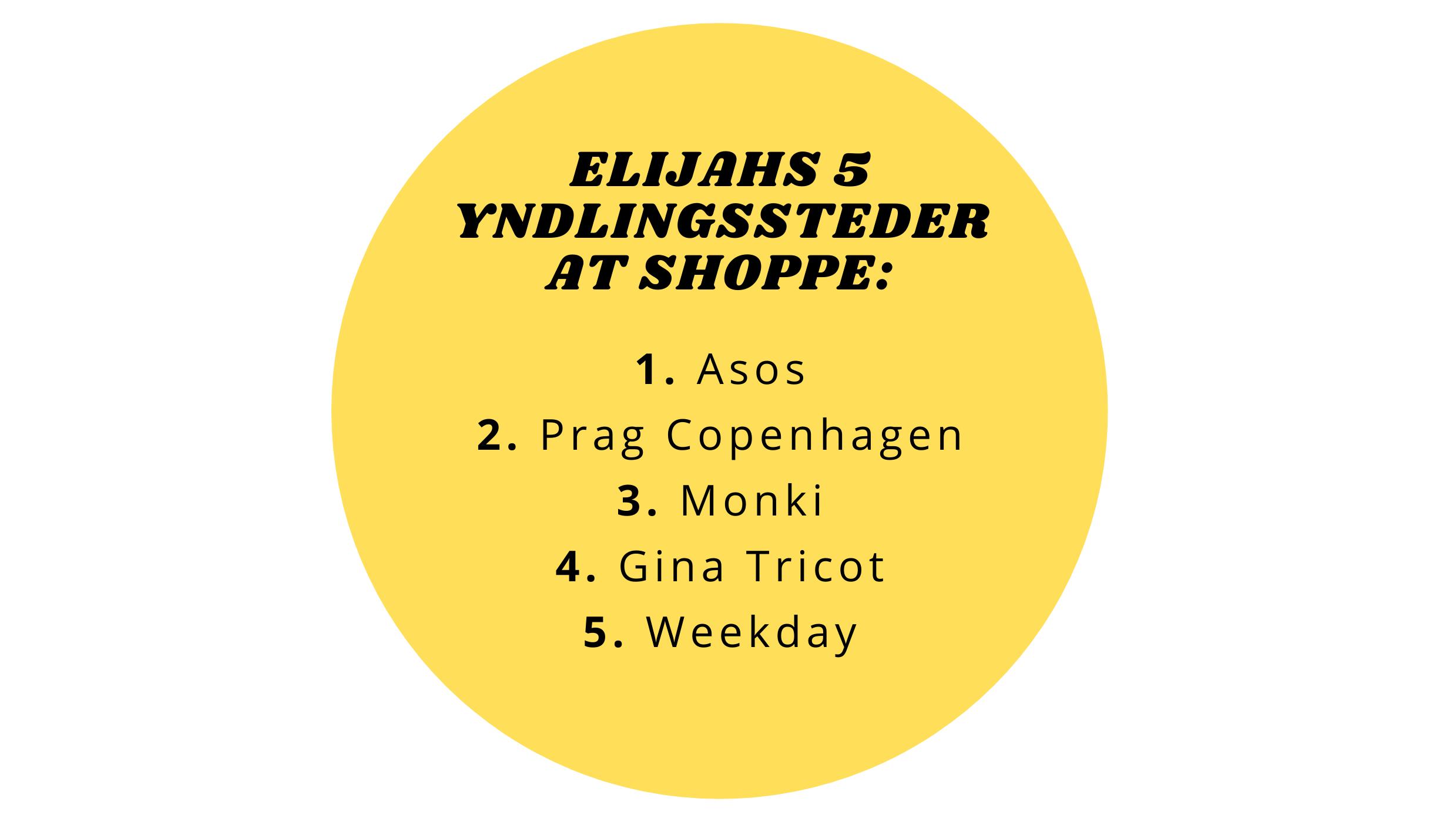 Elijah Kashmir Alis yndlingssteder at shoppe