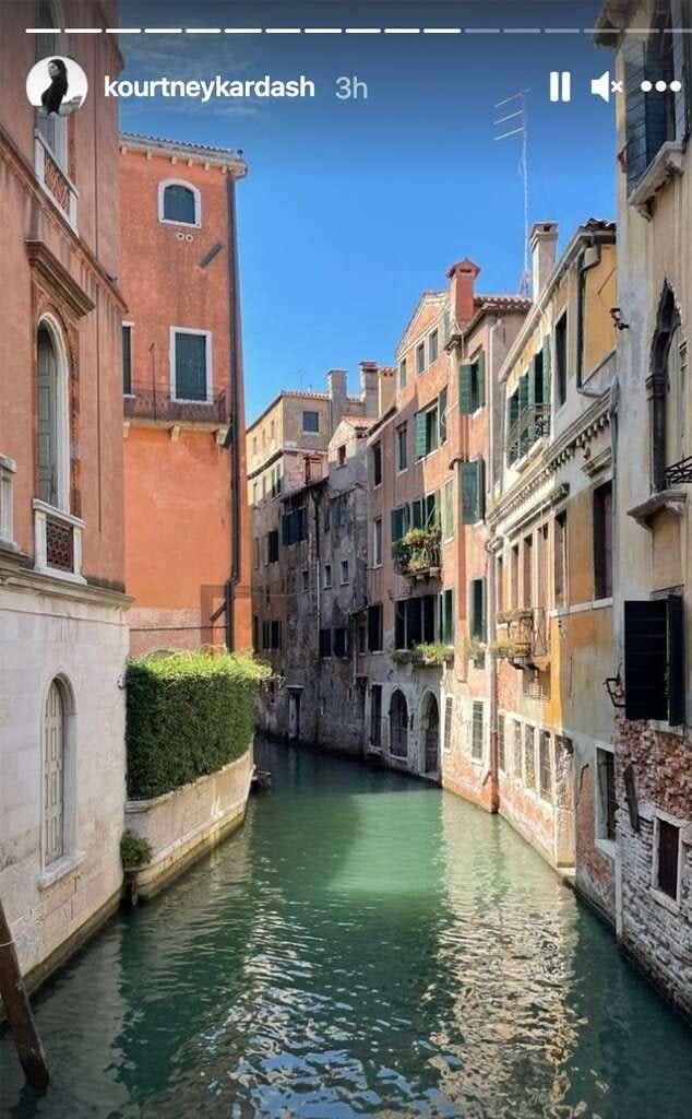 Kourtney Kardashian i Venedig