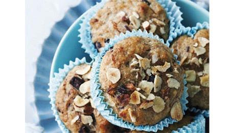 opskrifter, muffins, sunde boller, morgenboller, mellemmåltid
