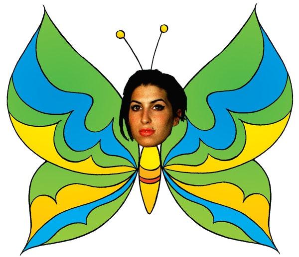 amy winehouse, sommerfugl, janis winehouse