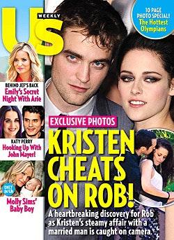 Kristen Stewart, Robert Pattinson, twilight, utro, utroskab, teen choice award, us weekly, gossip, stjerner, sladder, snowwhite and the huntsman