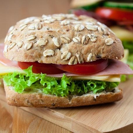 burger, opskrift, frokost, sund mad, sundhed, madpakke