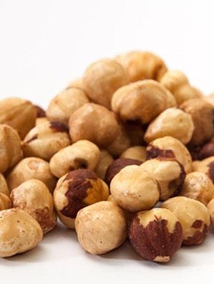 Sunde nødder i en bunke