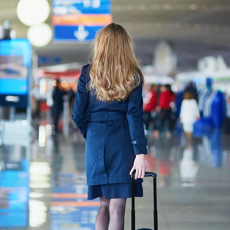 lækker pige på rejse